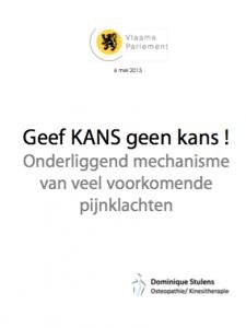 Dominique Stulens - Geef kans geen kans - lezing osteopathie Vlaams Parlement 2015
