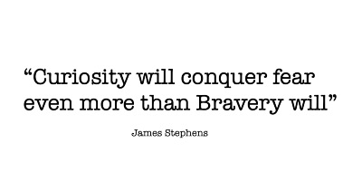Curiosity will conquer fear even more than Bravery will